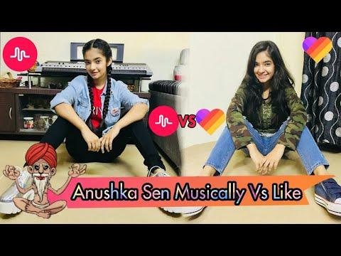 Anushka Sen Musical.ly Vs Like App Videos |💙Like App | Muscally |Anushka Sen|