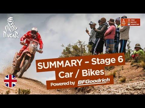 Summary - Car/Bike - Stage 6 (Arequipa / La Paz) - Dakar 2018