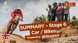 Summary - Car/Bike - Stage 6 (Arequipa / La Paz) - Dakar 2018