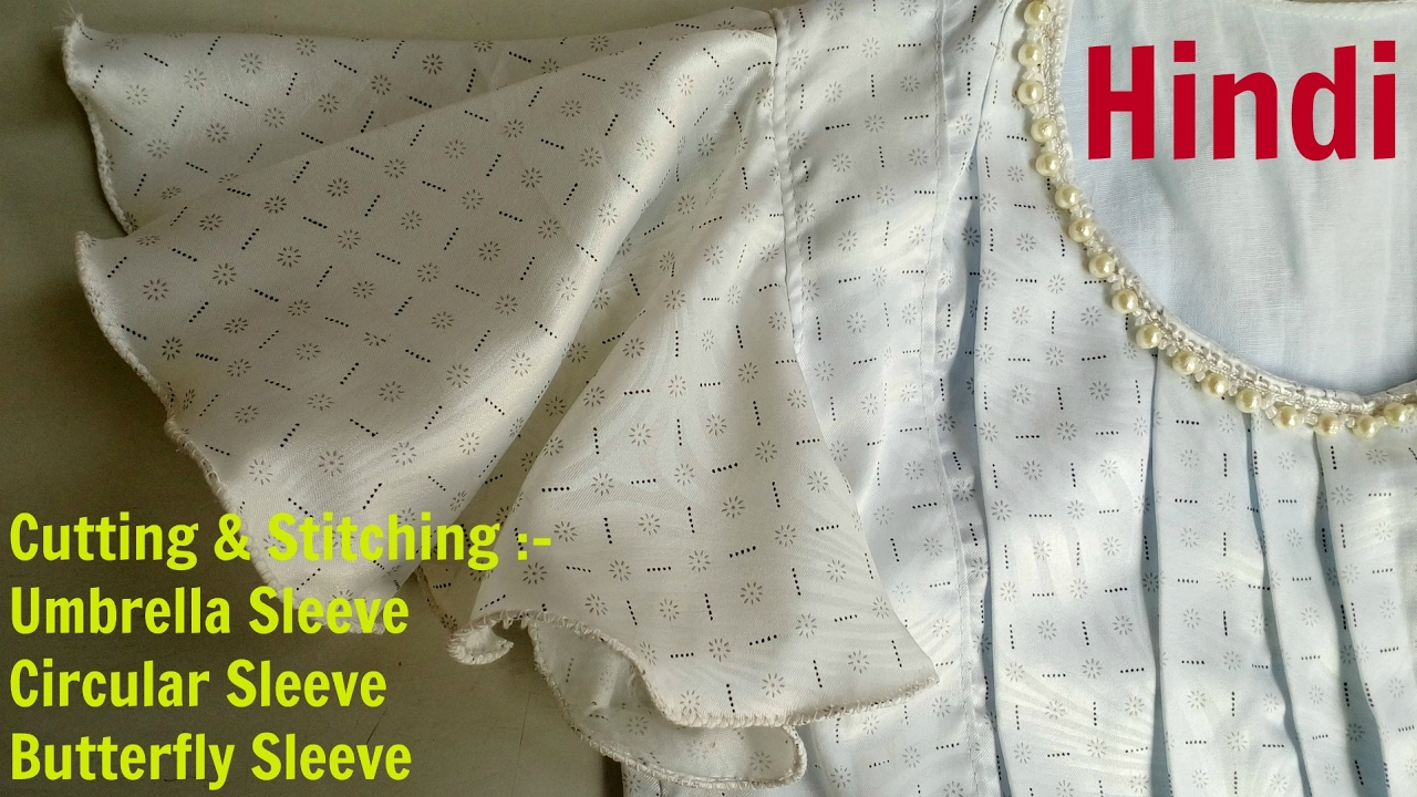 Cut Sew Umbrella Sleeve Erfly Circular Hindi Gol Baju Cutting Silai