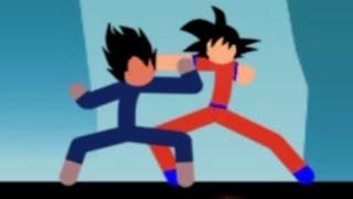 Goku vs Vegeta | Dagon Ball Stickman FIGHT! | God of Stickman 3