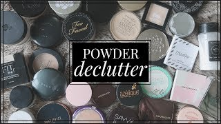 Decluttering My Powder Collection by 60% | What made the cut?? Powder Declutter