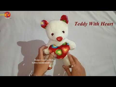 Soft Toys Teddy Bear With Heart making at home