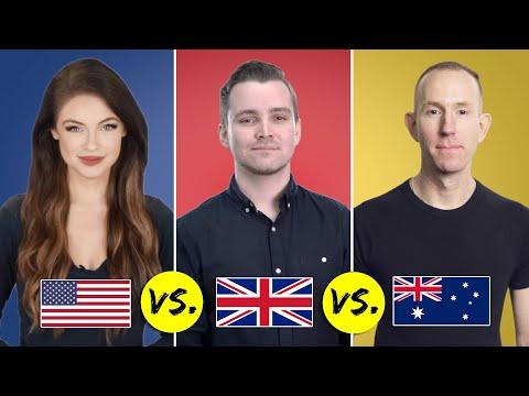 American vs. British vs. Australian English   One Language, Three Accents