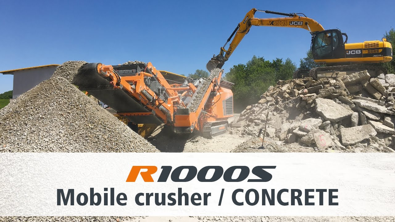 Crushing Concrete with Rockster's Impact Crusher R1000S / Beton brechen mit Rockster's R1000S