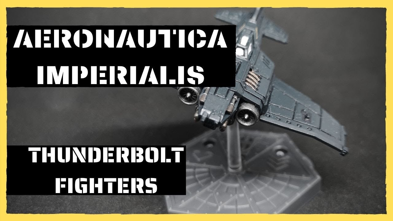Aeronautica Imperialis - Painting Imperial Navy Thunderbolt Fighters