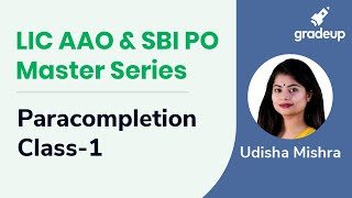 LIC AAO & SBI PO Master Series-Paracompletion Class-1