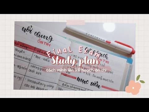 Cách mình lên kế hoạch ôn thi cuối kỳ ? // Final exam study plan // jawonee