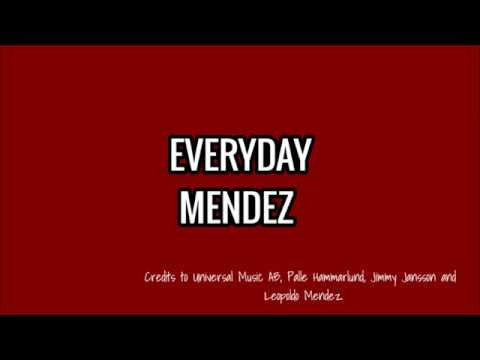 EVERYDAY - MENDEZ LYRICS (Melodifestivalen, Sweden 2018)