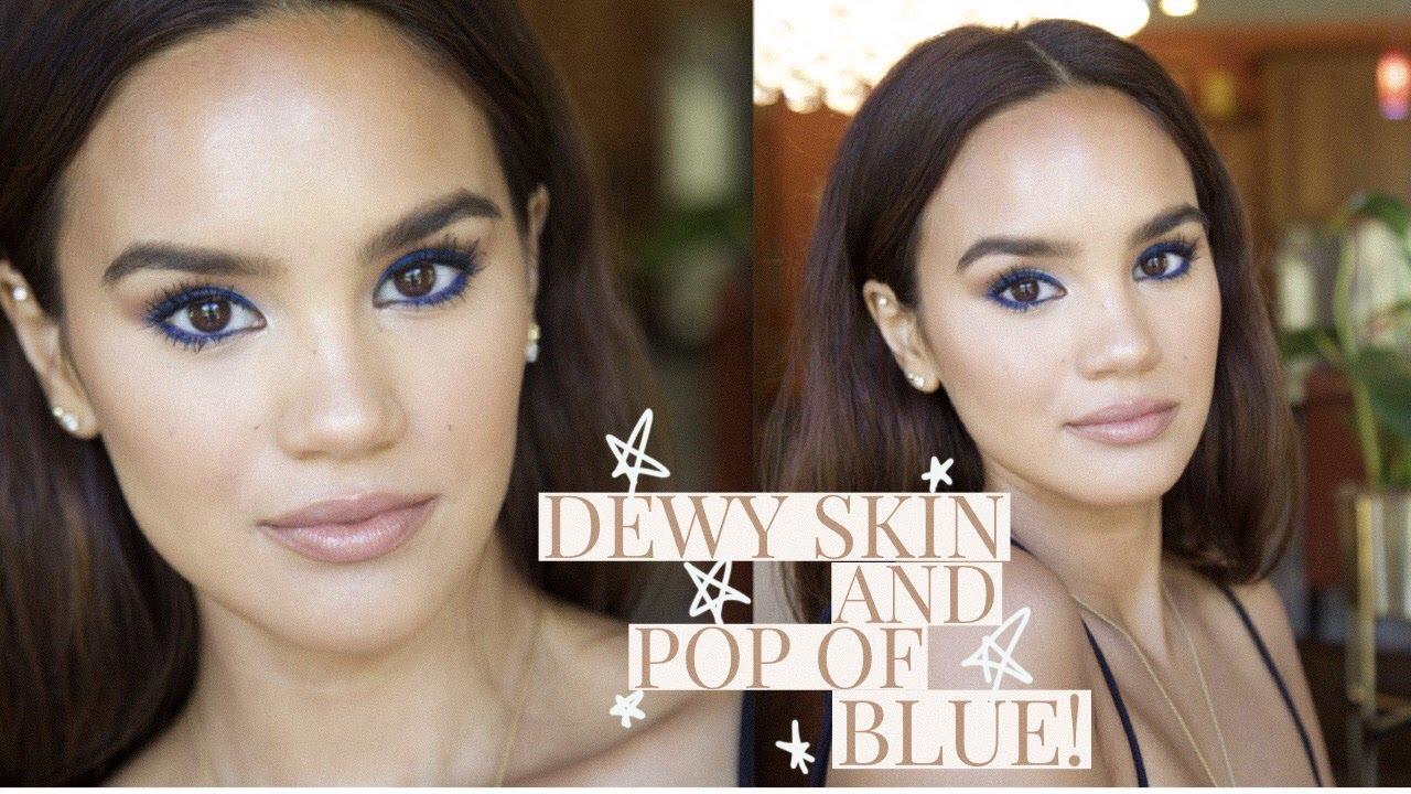 Download 1584 Mb Dewy Skin Bright Blue Eyes Makeup Tutorial