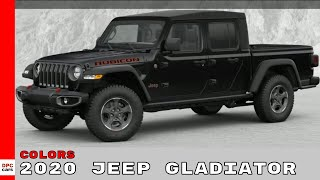 2020 Jeep Gladiator Colors