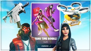 🔴*NEW* HANG TIME BUNDLE! / *NEW* LEAKED BURST SMG! / *NEW* HOTDROP DRONE!- Fortnite Battle Royale