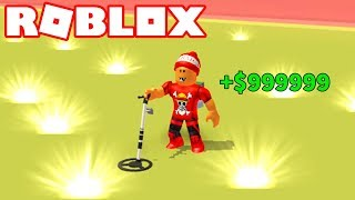 Roblox → HOW TO MAKE a LOT of MONEY!! -Roblox Metal Detecting Simulator 🎮