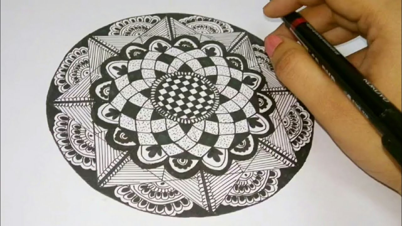 How To Draw Mandala Art For Beginners Easy Attractive Mandala