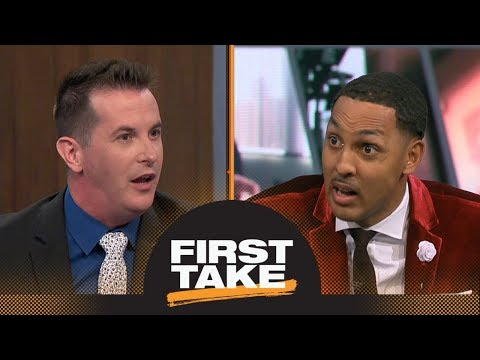Kyle Kuzma or Lonzo Ball: Which Laker will LeBron James benefit more? | First Take | ESPN