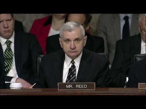 Reed Discusses National Security With Secretary Of Defense Nominee Chuck Hagel