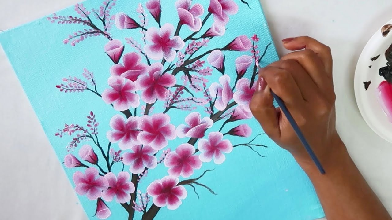Easy Canvas Painting Ideas | Step by Step Painting ...