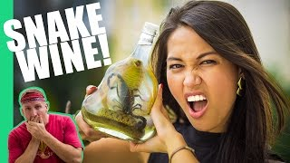 The Snake Wine Challenge in Vietnam!