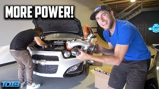 homepage tile video photo for We Put a BIG TURBO on a Chevy Sonic! (because why not)