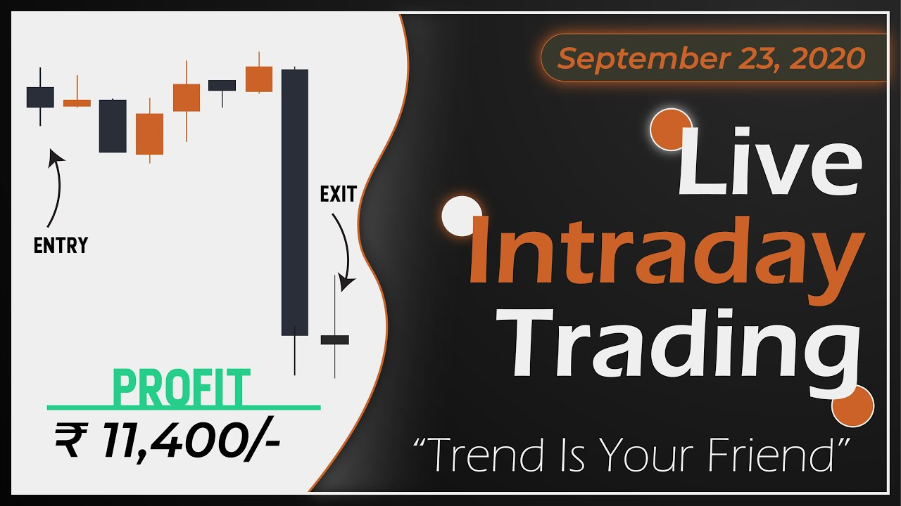 Live Intraday Price Action Trading    VP Financials    23 SEPTEMBER 2020