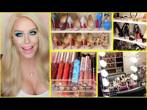 GLAM ROOM TOUR: Makeup, Shoes & MORE! | Gigi