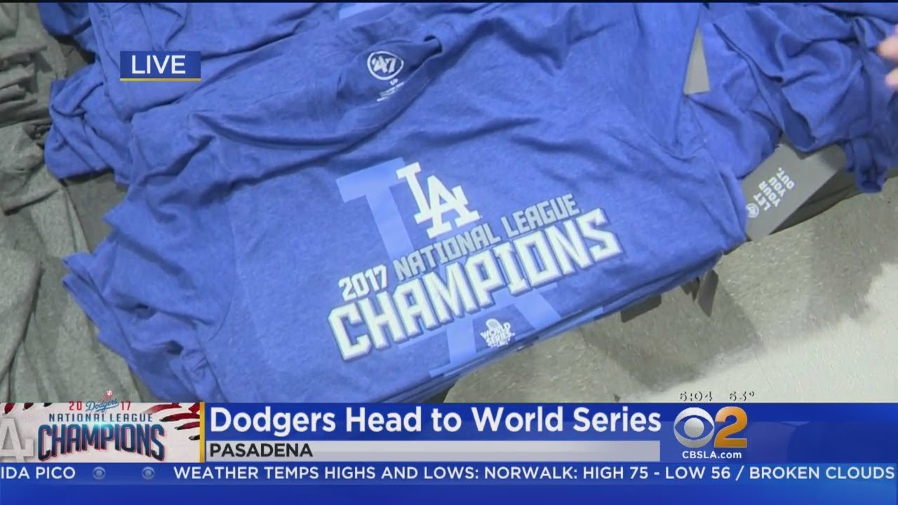 Early-Bird Fans Rush To Buy Dodger Gear - YouTube 69ca3ad4c76