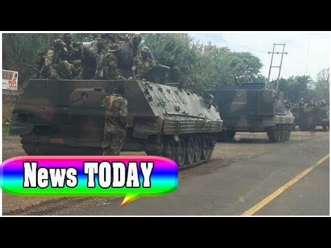 Military vehicles 'heading towards zimbabwe capital' amid political purge   News TODAY