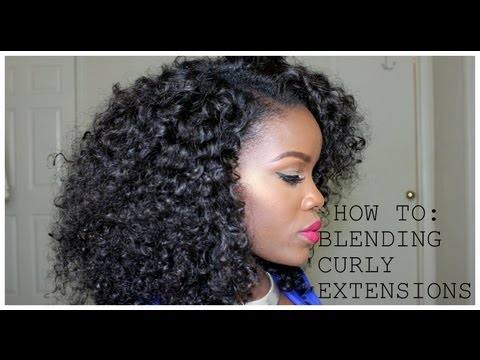 Blending Natural Hair With Curly Weave