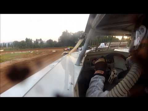 5w Waylon Wagner 7-19-13 Clinton County Raceway hot laps & heat race