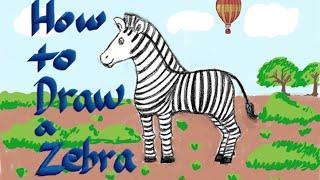 How to draw a Zebra | Alphabet Zz | 얼룩말 그리기 | 알파벳 Zz