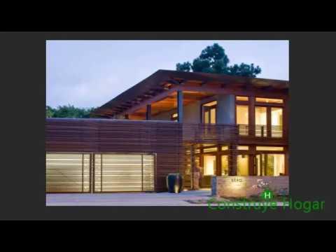 Fachadas de madera de casas modernas youtube for Fachadas de casas nuevas modernas