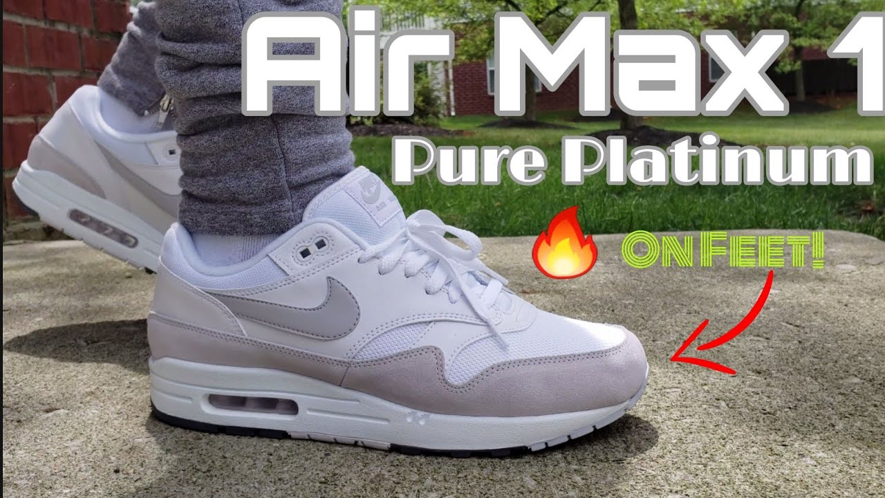 Nike Air Max 1 Pure Platinum Unboxing On Feet Review 2019