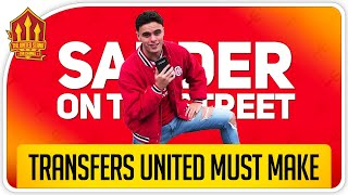 TRANSFERS Man Utd Must Make! Man Utd News From The Street