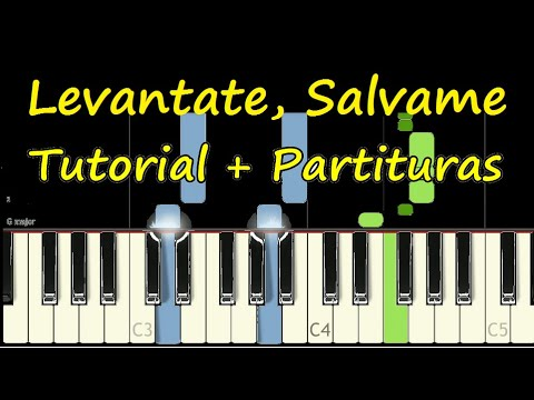 LEVANTATE SALVAME Marcos Witt Piano Tutorial Cover Facil + Partitura PDF Sheet Music Easy Midi thumbnail