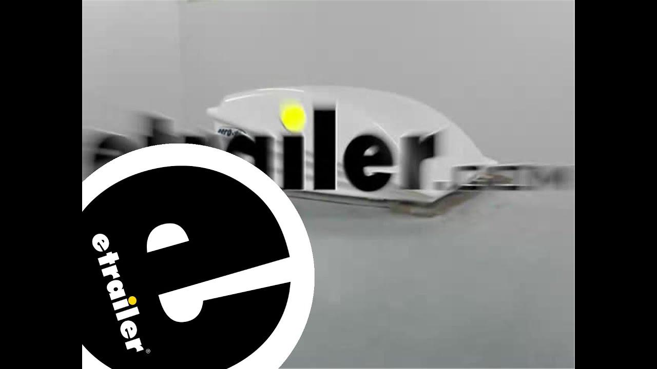 Installation Of The Camco Aero Flo RV Roof Vent Cover   Etrailer.com    YouTube