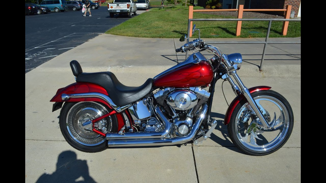 SOLD! 2001 Harley-Davidson FXSTDI Softail Deuce 1868 - YouTube