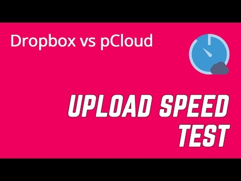 Dropbox vs  pCloud Speed Test & Pricing Comparison - YouTube