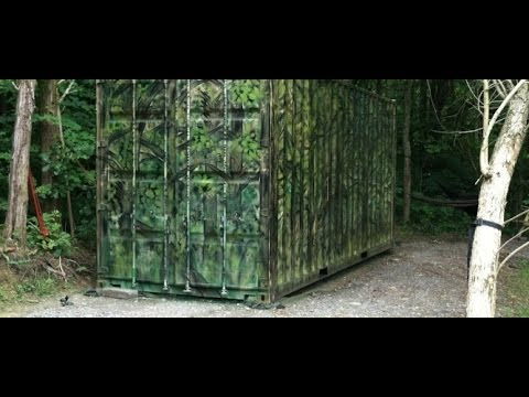 Shipping Container Hunting Blind (bugout house?)