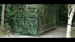 Shipping Container Hunting Blind or Prepper House?