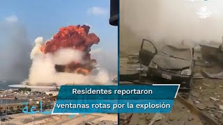 La explosión sacudió varias partes de la ciudad libanesa. A través de videos, residentes reportaron ventanas rotas y la caída de techos falsos, incluso a kilómetros de distancia