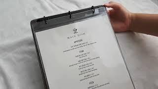 예쁜 카페메뉴판 빈티지 우드 바인더