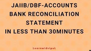 bank reconciliation statement brs jaiib dbf afb