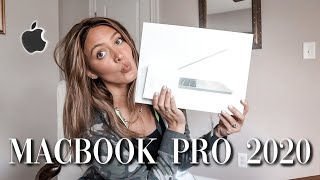 Unboxing + Customizing NEW 2020 Macbook Pro | easy & aesthetic!