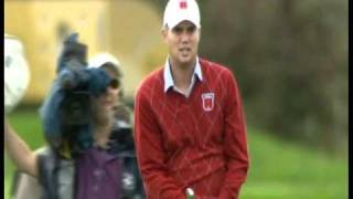 Jeff Overton Funny reaction to his eagle at the Ryder Cup! (Hilarious)(High quality)