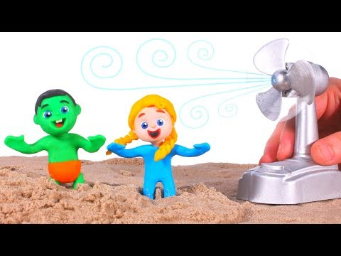 The Fan Destroyed The Sand Castle ❤ Cartoons For Kids