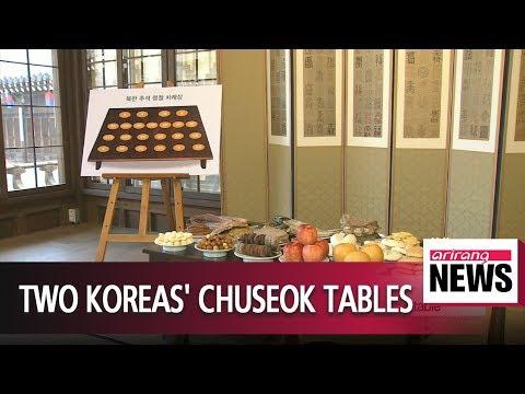 Chuseok delicacies in South and North Korea