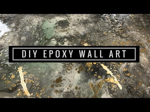 Liquid Glass Epoxy Resin Wall Art Tutorial