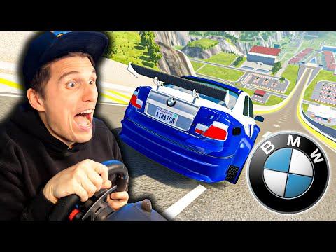 Mit dem BMW M3 GTR (mit über 300km/h) auf der XXL Sprungschanze | BeamNG