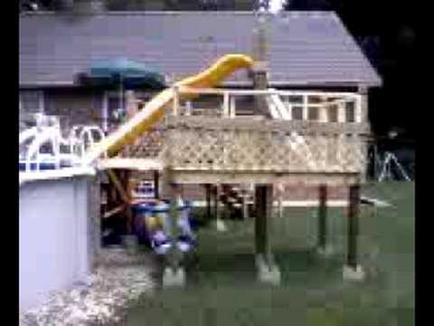 above ground slide youtube - Diy Above Ground Pool Slide