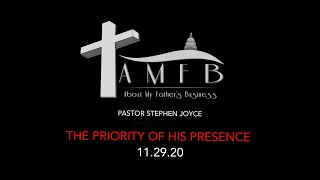 AMFBGRACE - THE PRIORITY OF HIS PRESENCE - 11.29.20